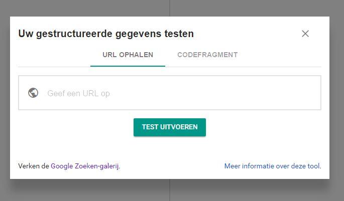Tool voor gestructureerde gegevenstests