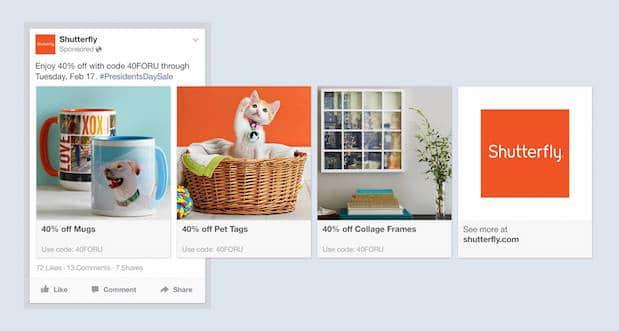 Facebook Carrousel Ads
